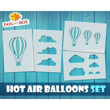Hot air balloon SET of 4...