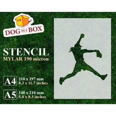 Softball stencil n.2 -...