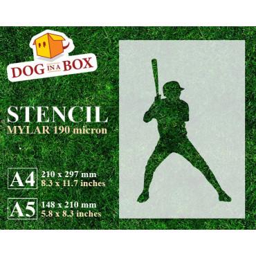 Softball stencil n.1 -...