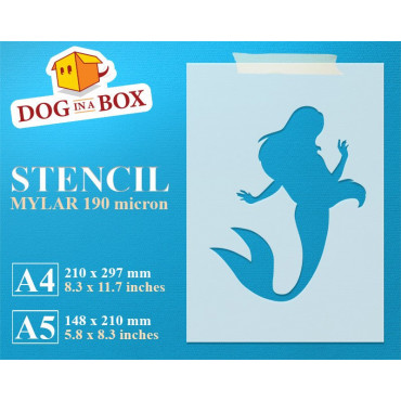 Mermaid stencil n.3 -...