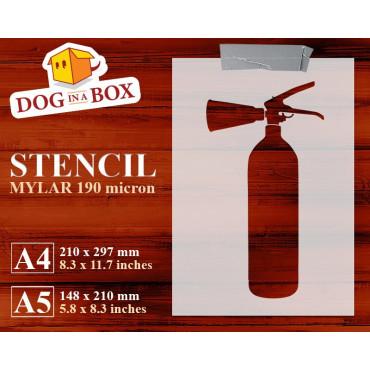 Fire Extinguisher stencil -...