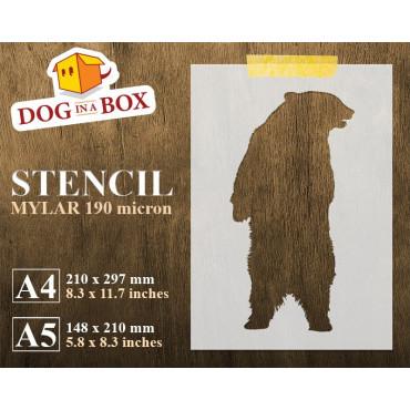 Bear stencil n.4 - Reusable...