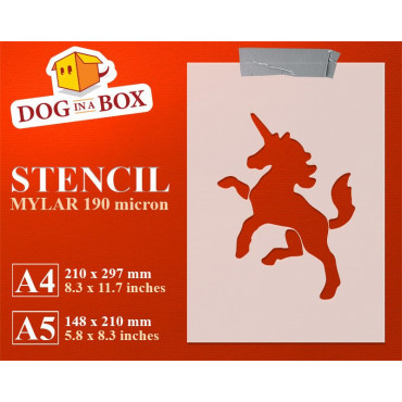 Unicorn stencil n.3 - Cute...