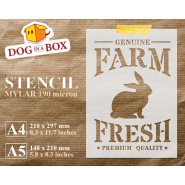 Farm Fresh Bunny stencil -...