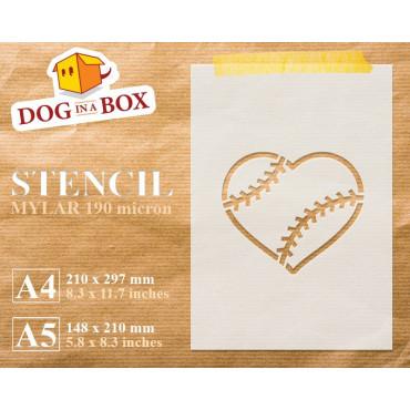 Baseball heart stencil -...
