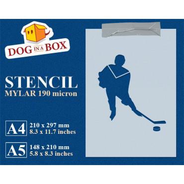 Hockey stencil n.1 -...
