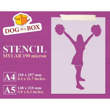 Cheerleader stencil n.2 -...