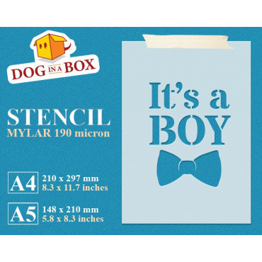 It's a Boy stencil -...