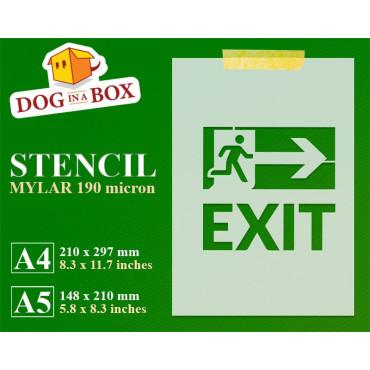 Exit sign stencil - Exit...