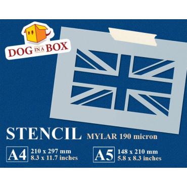 UK flag stencil - United...