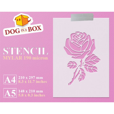 Rose stencil - Reusable...
