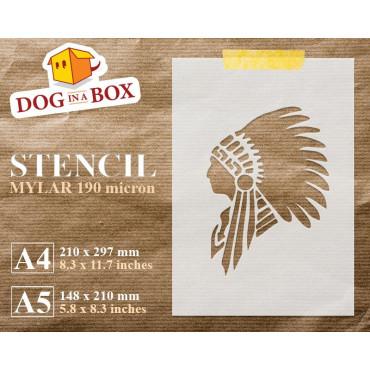 Indian Chief stencil -...