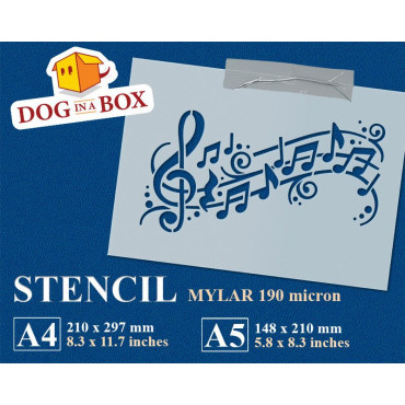 Music notes stencil -...
