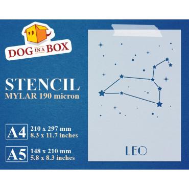 Leo constellation stencil -...