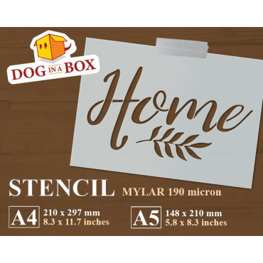 Home stencil - Welcome...