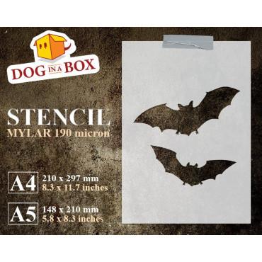 Halloween bats stencil n.2...