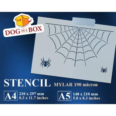 Spider web stencil n.1 -...