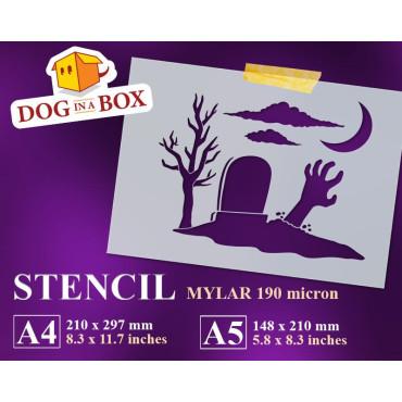 Zombie stencil - Reusable...