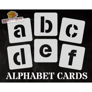 Alphabet stencils font n.7...