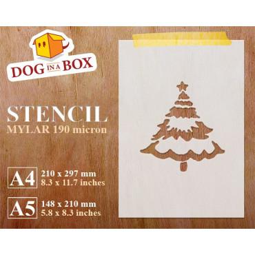 Christmas tree stencil n.4...