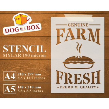 Farm Fresh Pie stencil -...