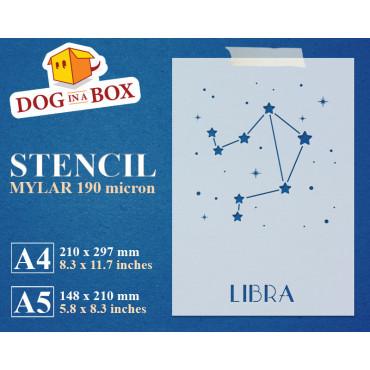 Libra constellation stencil...