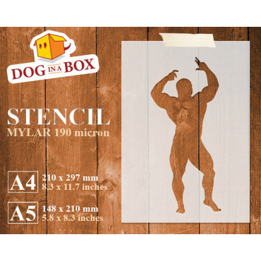 Body Builder stencil n.3 -...