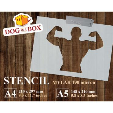 Body Builder stencil n.1 -...