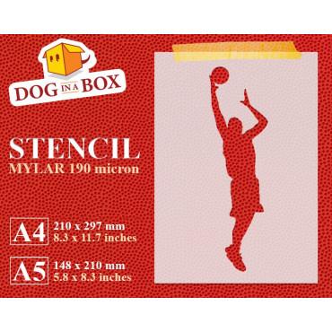Basketball stencil n.2 -...