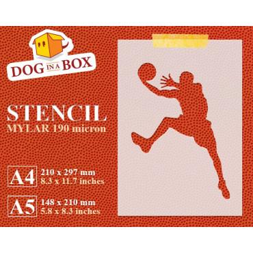 Basketball stencil n.1 -...