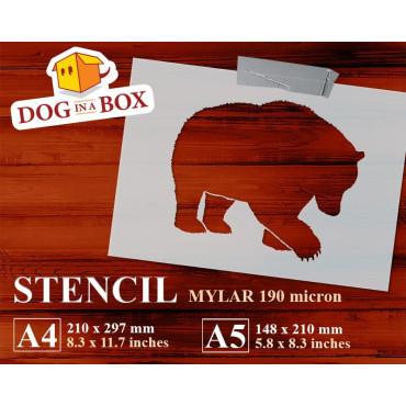 Bear stencil n.5 - Reusable...