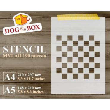 Chessboard stencil -...