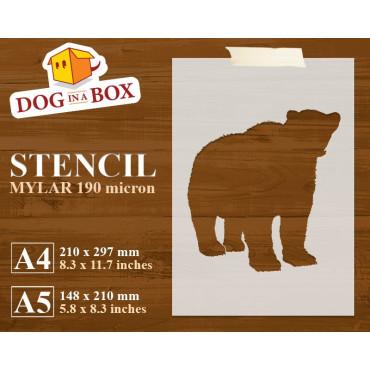 Bear stencil n.3 - Reusable...
