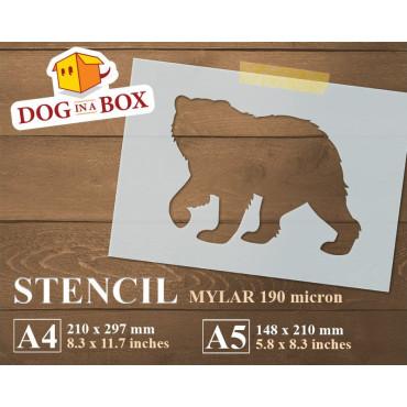 Bear stencil n.2 - Reusable...