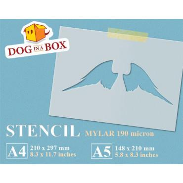 Angel Wings stencil n.1 -...