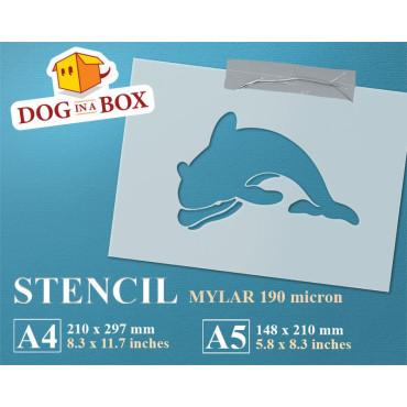 Dolphin stencil - Reusable...