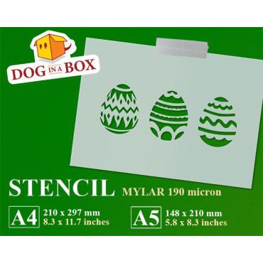 Easter eggs stencil -...
