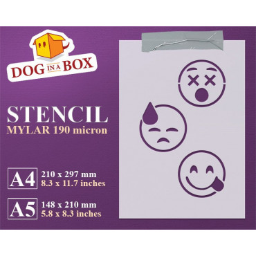 Emoticons stencil set n.2 -...
