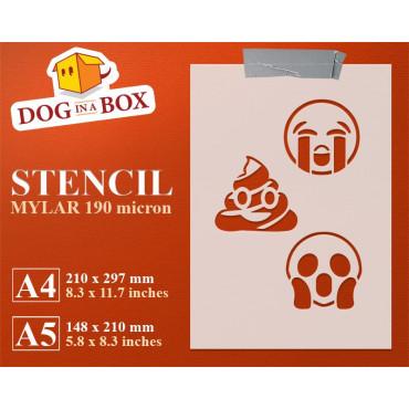Emoticons stencil set n.3 -...