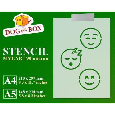 Emoticons stencil set n.4 -...