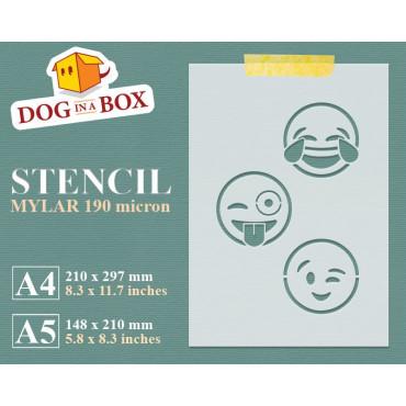 Emoticons stencil set n.6 -...