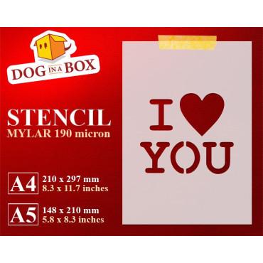 I love you stencil -...