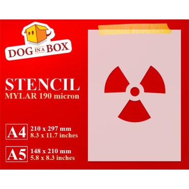Nuclear symbol stencil -...
