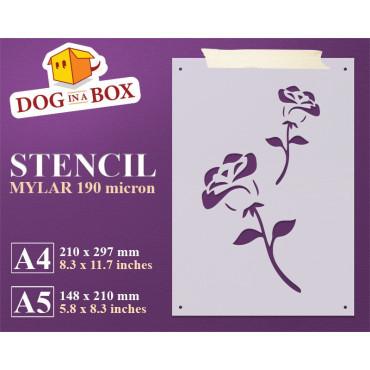 Roses stencil n.2 -...