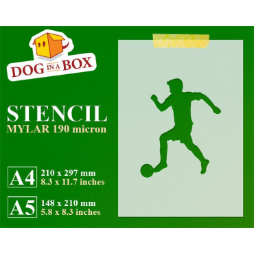 Soccer stencil - Reusable...