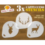 Deer stencil (set of 3)...