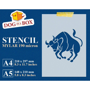 Taurus stencil n.2 - Zodiac...