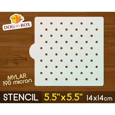 """Circles stencil n.1 - 5.5""""..."""