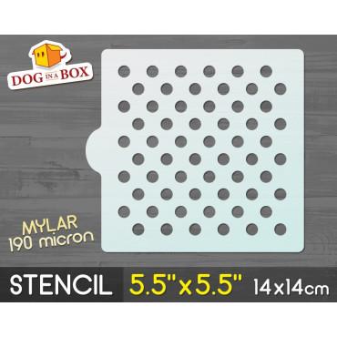 """Circles stencil n.2 - 5.5""""..."""