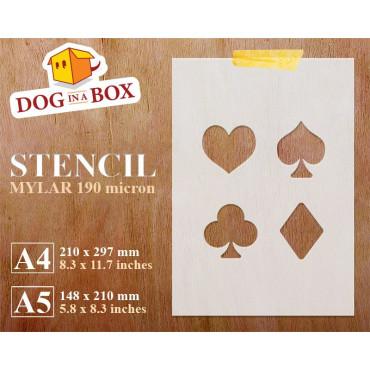 Card suits stencil -...